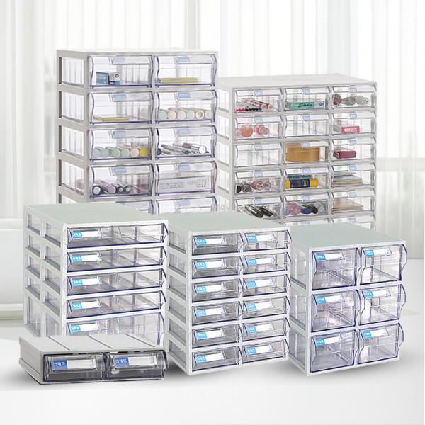 투명 수납서랍선반 수납함 박스 정리 플라스틱 서랍장 상품이미지
