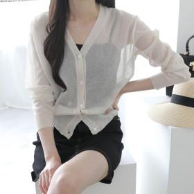 JENIT Fall New Arrivals Women`s Cardigan Knitwear Loose-fit Cropped