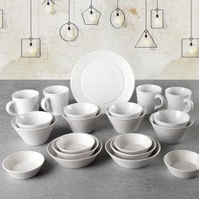 모던라인 4인 식기홈세트 21P 그릇 식기 머그컵 접시