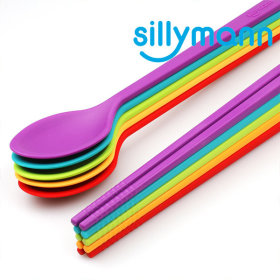 Sillymann / Silicon Spoons / Chopsticks / for children / adult / tableware /