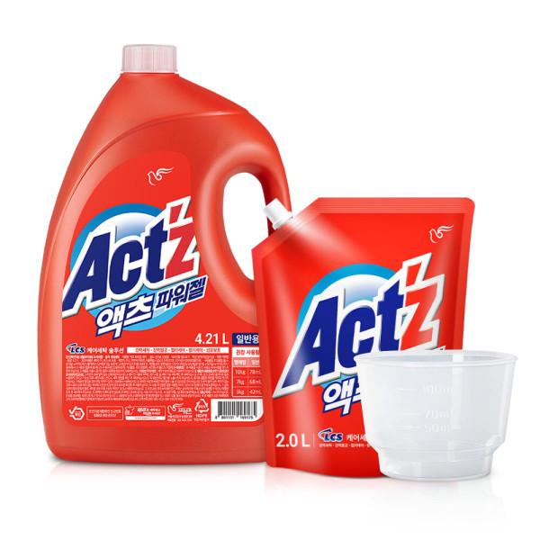 액체세탁세제 파워젤 4.21L 2개 일반 상품이미지