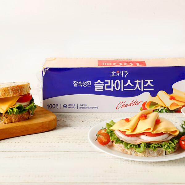 (현대Hmall) 동원 소와나무 슬라이스치즈 1.8Kg (100장) 상품이미지