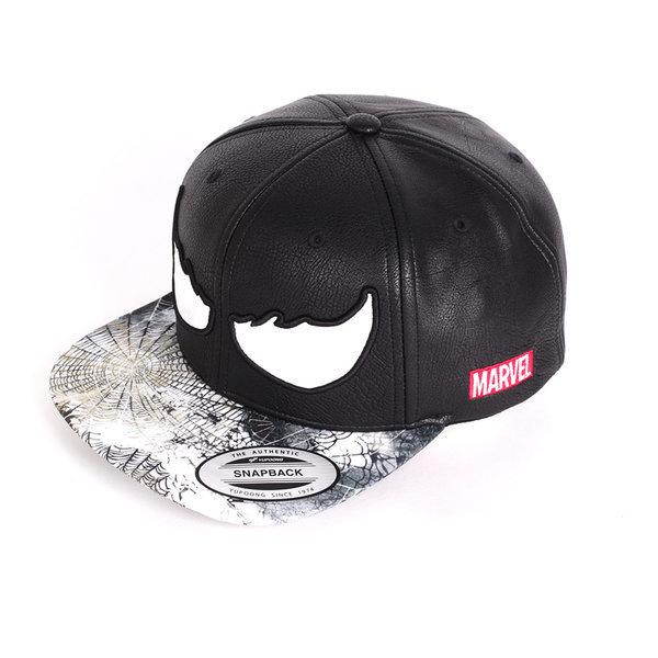 MARVEL/마블 베놈 페이스 블랙 스냅백 야구모자 상품이미지
