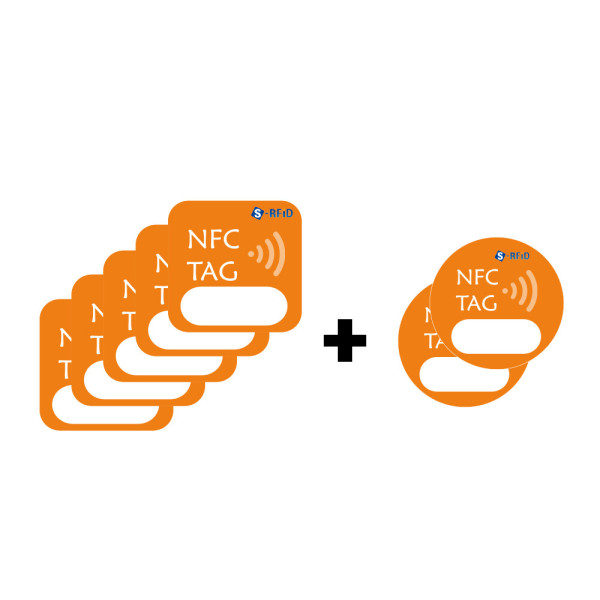 NFC 태그 스티커 5장+2 카드 칩 라벨 메탈 NTag213 상품이미지
