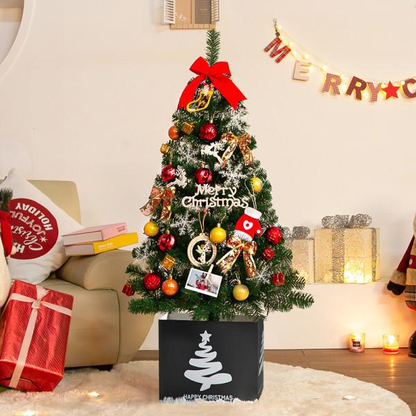 웰스트리 1m~1.6m 크리스마스트리 풀세트 벽트리 상품이미지