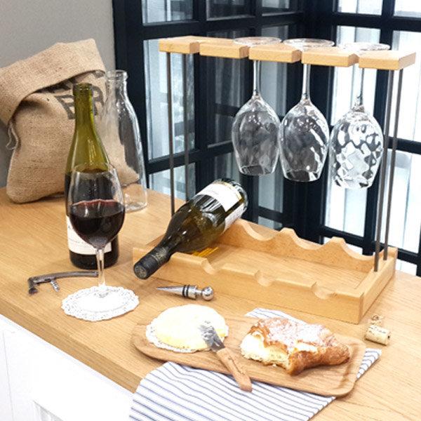 원목 와인렉 와인 잔 걸이 와인랙 거치대 선반 받침대 상품이미지