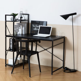 Simple H type desk/table/computer/office/student/bookcase/drawer