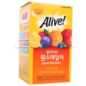 [얼라이브]얼라이브 원스데일리 멀티비타민 100정/종합비타민