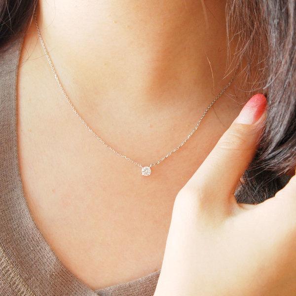 당일발송 예쁜 2부 프로포즈 선물용 다이아몬드목걸이 상품이미지