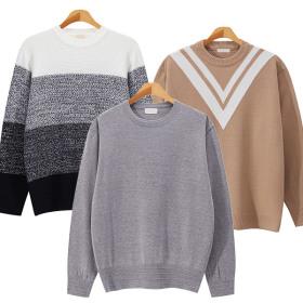 가을신상 라운드넥니트/브이넥/꽈베기/와플/스웨터