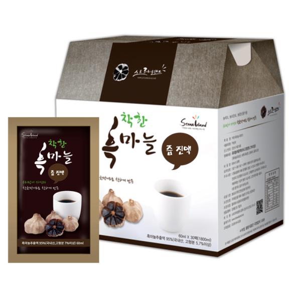착한흑마늘 진액 30포(의성산 마늘100%)특가 선물포장 상품이미지