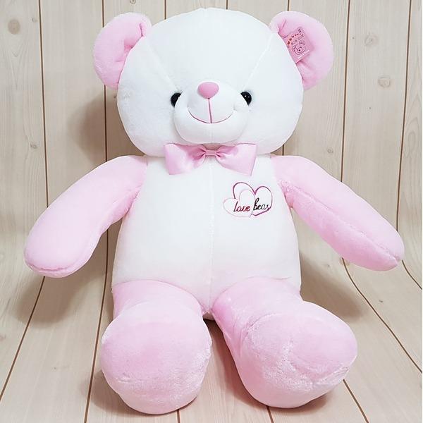 영아트 핑크 블루 러브베어 60 80 100cm 귀여운곰인형 상품이미지