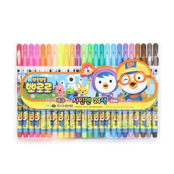 (AK몰)(오키즈)(오키즈) (E1028) 뽀로로 사인펜 (24색) 유아동 미술용품 문구 상품이미지