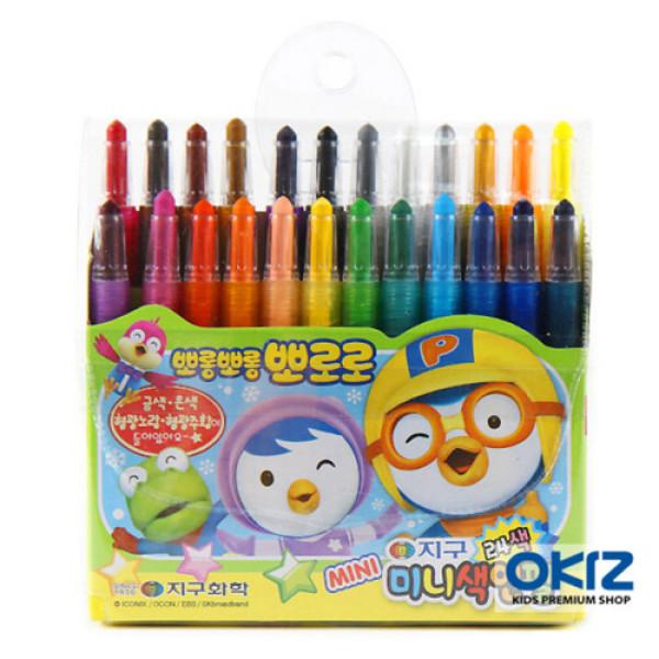 (AK몰)(오키즈)(오키즈) (F1166) 뽀로로 색연필 (24색 미니) 유아동 미술용품 문구 상품이미지