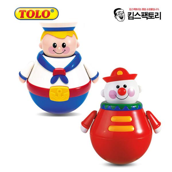 톨로 회전오뚜기/오뚜기 뽀빠이 삐에로/아기장난감 상품이미지