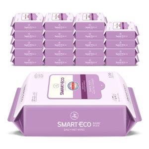 [스마트에코]새로운 스마트에코물티슈 대용량120매 10+10팩