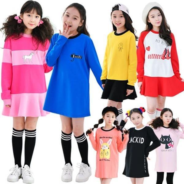 주니어여아 롱티 가을 BEST50 초등학생 옷 원피스 의 상품이미지