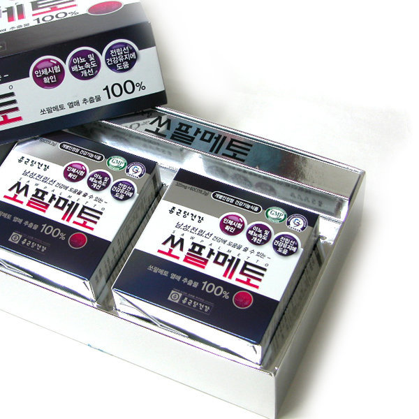 종근당건강 쏘팔메토 1박스/120캅셀/4개월/전립선건강 상품이미지
