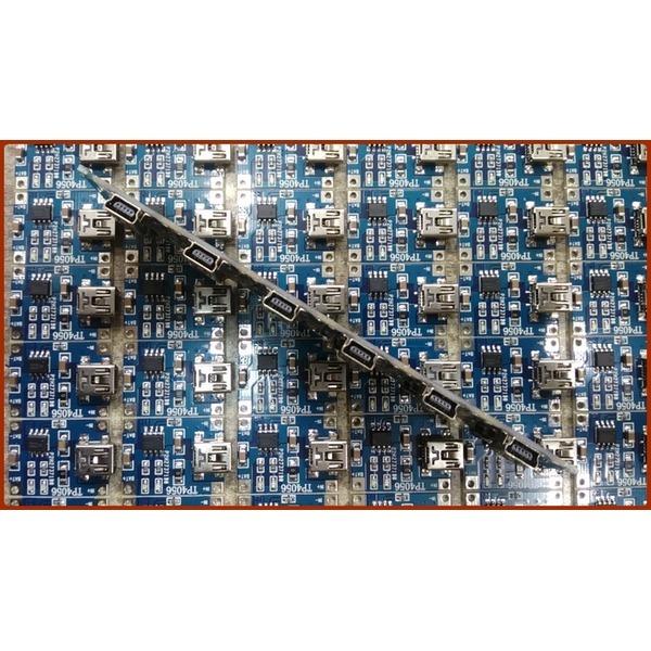 리튬이온 배터리 충전보드 미니5핀USB입력+충전케이블 상품이미지