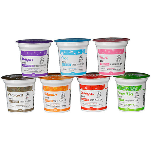 모델링 컵팩 7종 택1 수분 진정 영양 고무팩 1일1팩 상품이미지
