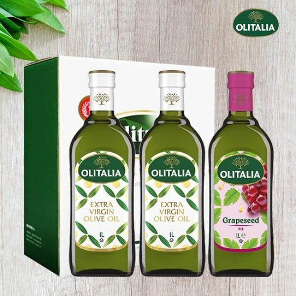 올리타리아 올리브유1L 2병 +포도씨유1L 1병 (선물세트) 상품이미지
