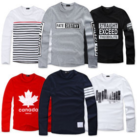 Long-sleeved T-shirt/T-shirt/T-shirt men/men shirts/men