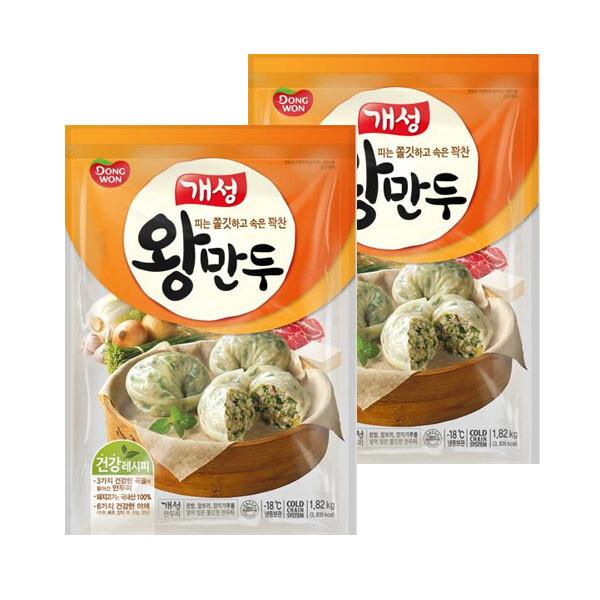 (현대Hmall) 동원 개성왕만두 1.82kgX2봉 (총3.64kg) /대용량/김치/감자 상품이미지