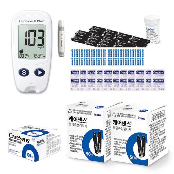 케어센스2 혈당측정기+시험지110매+침210개+솜100매 상품이미지