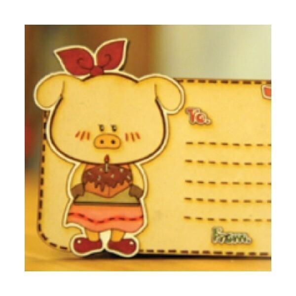 카드 꽃돼지/팬시우드/우드마커스/나무공예 상품이미지