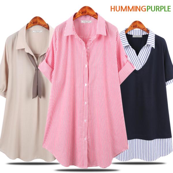 여름 신상 셔츠/블라우스/체크/스프라이프 빅사이즈 상품이미지
