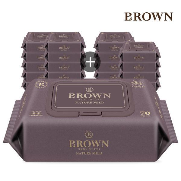(10%쿠폰)브라운 아기물티슈 네이처 마일드 캡형 80매 상품이미지
