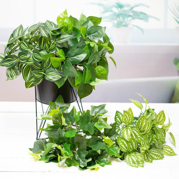 지피 식물 초록 잎 부쉬 실크플라워 조화 상품이미지