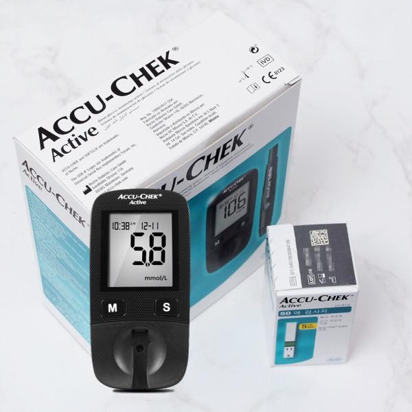 아큐첵 액티브 GU 혈당계+시험지60매+침110개+솜100매 상품이미지