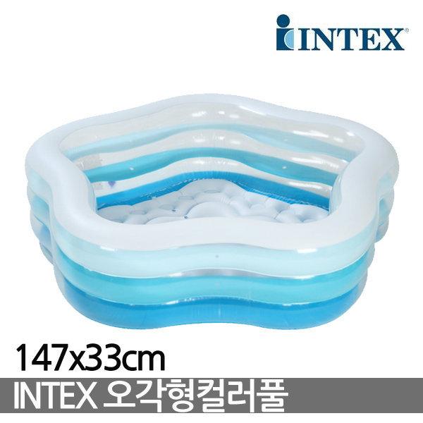 INTEX 오각형 컬러풀/56495/풀장/야외풀/물놀이/볼풀 상품이미지