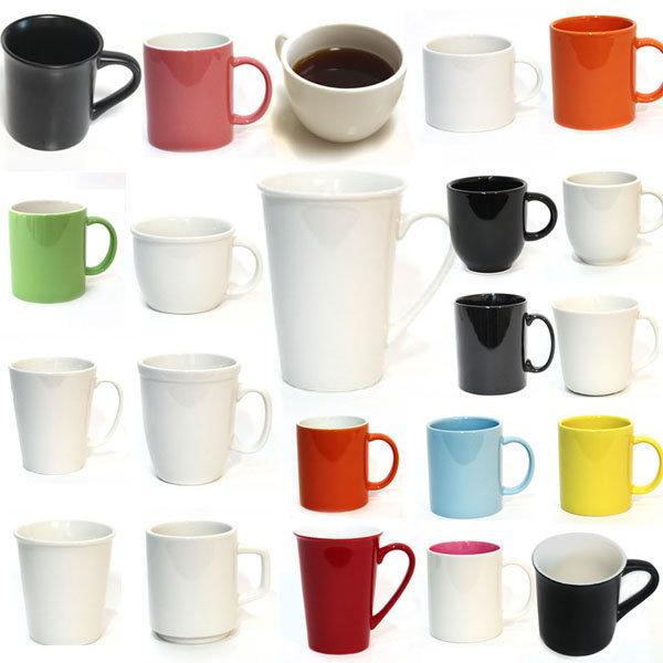 남다른 도자기 머그컵 모음 다양한 컬러 인쇄컵 상품이미지