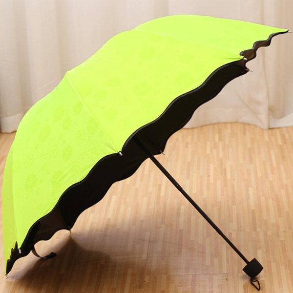 비가 오면 꽃피우는우산 3단우산 사쿠라 우산 장우산 상품이미지
