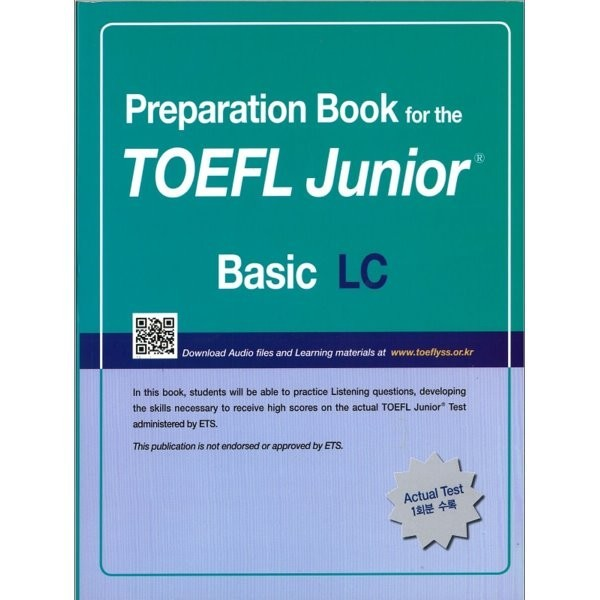 Preparation Book for the TOEFL Junior Test Focus on Question Types LC (Basic)  D Center 상품이미지