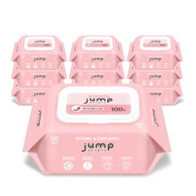 아기물티슈 캡형엠보싱 100매 10팩 넉넉한점프+휴대4팩