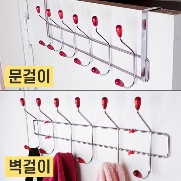 SMN 도어훅 옷걸이/행거/벽걸이/방문/벽옷걸이/자바라 상품이미지