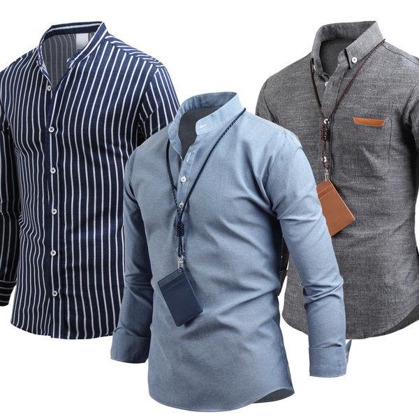 남자 셔츠 남방 남성 와이셔츠 체크남방 스트라이프 상품이미지
