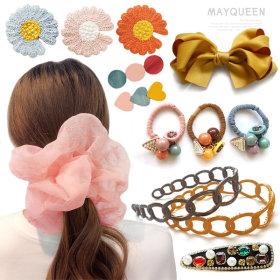 Spring new arrivals gift box chou chou girls hair pin band cubic pin