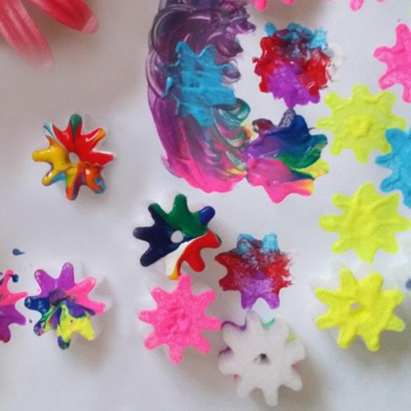 물감찍기 꽃송이폼(30개) 물감놀이 미술소품 상품이미지