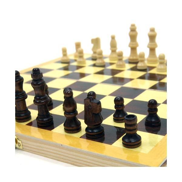 접이식 원목 체스(28cm)/보관용이 두뇌개발 보드게임 상품이미지