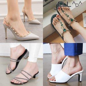 여성 뮬 쪼리 슬리퍼 웨지 통굽 여름 샌들 구두 신발