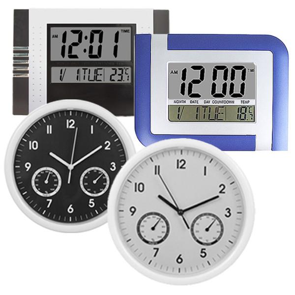 온습도시계+디지털 탁상시계+인테리어 벽시계+무소음 상품이미지