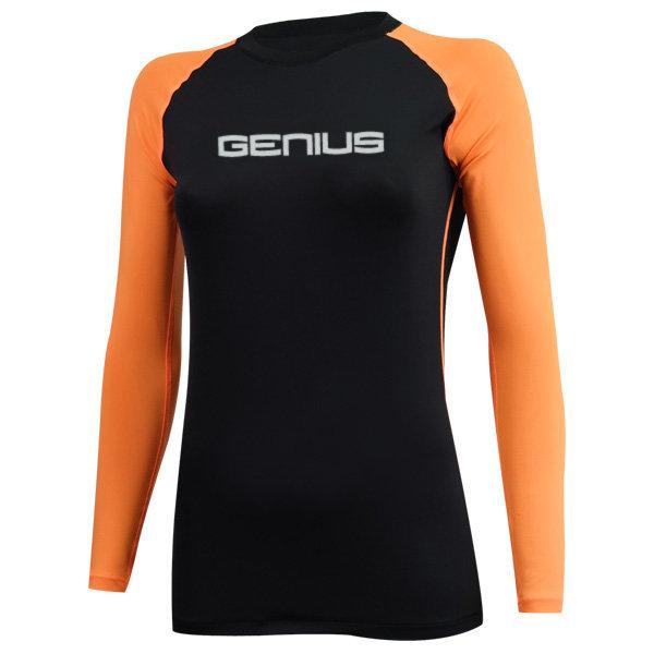 야구 언더셔츠 G405 여성 긴팔 믹스 블랙 오렌지 상품이미지