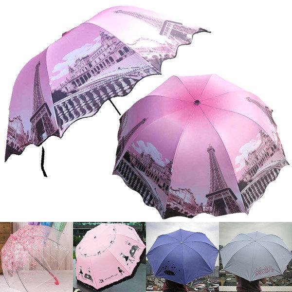 G여성패션3단우산 예쁜캐릭터투명장우산 양산겸용자동 상품이미지