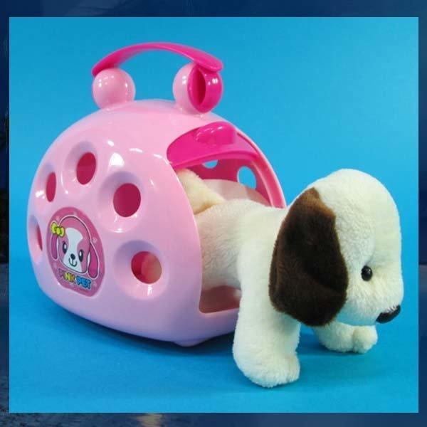 C441/핑크펫/보라펫/강아지인형/동물인형/강아지집 상품이미지