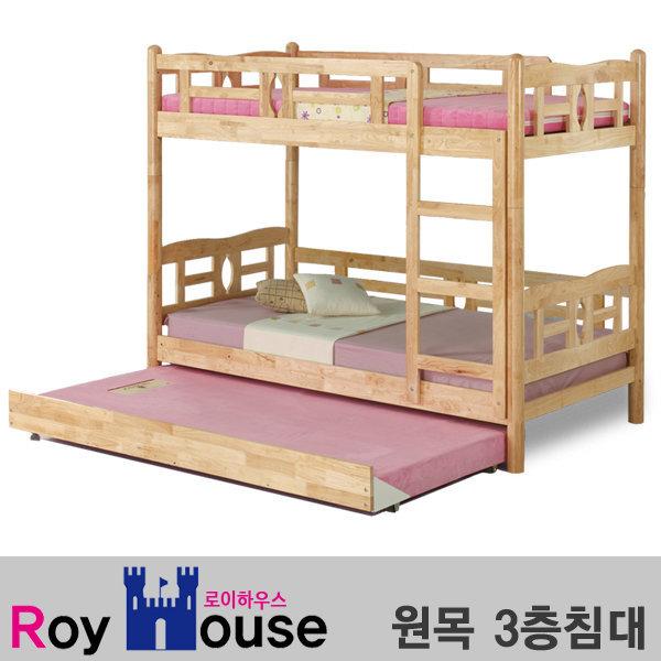 원목 3층침대/싱글분리형/공간활용/벙커/매트 상품이미지