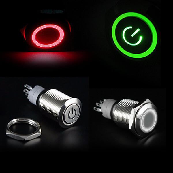 LED 크롬 토글 스위치 DC12V DIY 버튼 자동차 차량용 상품이미지